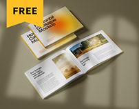 Free Horizontal Catalog Mockup Set