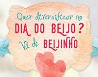 Cartaz Dia do Beijo - Aroma