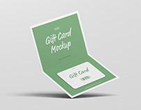 Bi-Fold Gift Card Mockup
