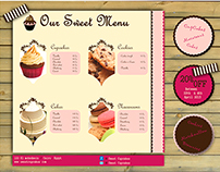 Template of cupcakes menu