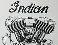 Flathead Indian Engine