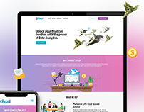 Reali : Financial consultant - Webdesign Project.