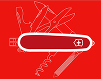 Infographics inspired by history of Swiss Army Knife