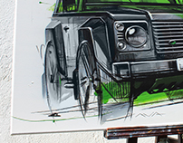 Land Rover Defender Artwork