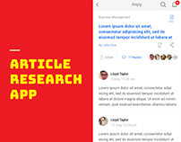 Article Research App