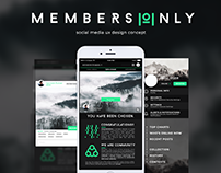 [Mobile UI/UX] Member's Only - A Creative Community