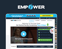 Empower Network - backoffice user interface
