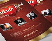Valentines Dinner Dance Flyer Word Publisher Template