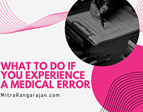 What to Do If You Experience a Medical Error