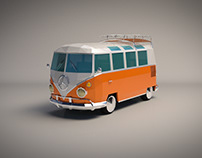 Low Poly VW Camper Van