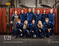 Mercedes Werk Bremen EM-Plakat