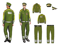 Official Uniform For Russian Military Traffic Patrol