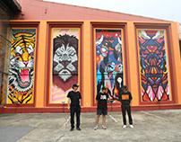 Tiger/Lion/Bull/Rhino : Meree Wall