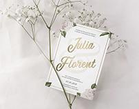 Print communication - Wedding Invitation - Menu - Cards