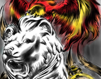 Lion and Phoenix of Time