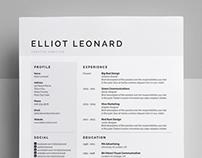 Resume/CV - 'Elliot'