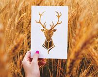 Free Stencil Paper Cutout Mockup PSD