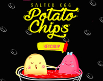 Salted Egg Potato Chips (Feasibility Study Packaging)