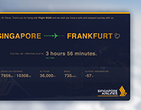 Singapore Airlines In-Flight Tracker