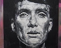 Tommy Shelby (Cillian Murphy) Peaky Blinders Painting