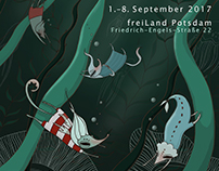 poster and web page design for festival Deep Water