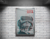 Mass media poster Editorial project