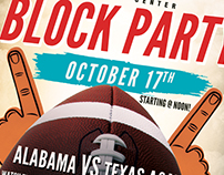 Football Block Party Flyer