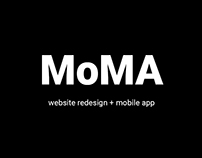 MoMA Website Redesign (College Project)
