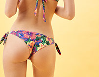 Tropical print for Bershka Swimwear collection