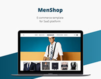 Men shop/E-commerce template/Web design/UI/UX