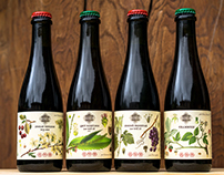 Endemic Mountain Brewery beer labels