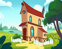 Backgrounds for cartoon films