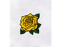 GORGEOUS YELLOW FLOWER EMBROIDERY DESIGN