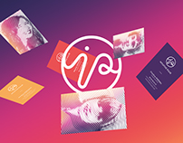 Intuitive Pulse: Business cards and visual identity