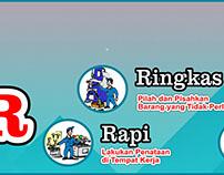 #10 Banner 5S 5R Seiri Seiton Indonesia Free Download