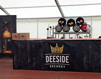 Deeside Brewery - Banner, beermat, and brochure design