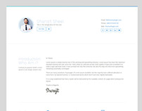 Html5 Resume Bootstrap template for personal portfolio