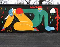 """""""Flower Girl"""" Street Art"""