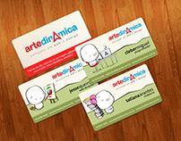 Cartão de visitas para Arte Dinâmica (Design gráfico)