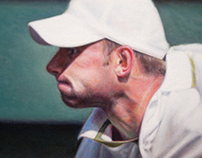 Andy Roddick Foundation + oil on canvas