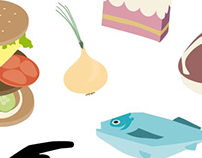 Vector illustration: Food for a creative mind. 2014.