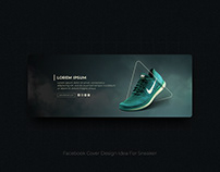 Facebook Cover Design Idea for Sneaker