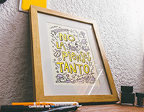 Art Print: «No la pienses tanto»