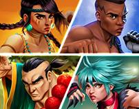 Fight Night - slot machine characters