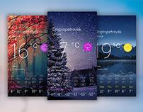 UI Weather forecast
