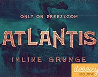 Free Font Atlantis Inline Grunge