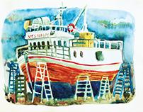 watercolors Vadso Norway 2017