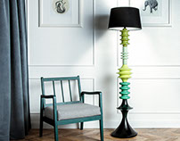 Yocco Floor Lamp in new green colors.