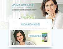 Website design for AVIVA ROMM MD. Doctor, Herbalist