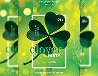 Clover Party Flyer - Seasonal A5 Template